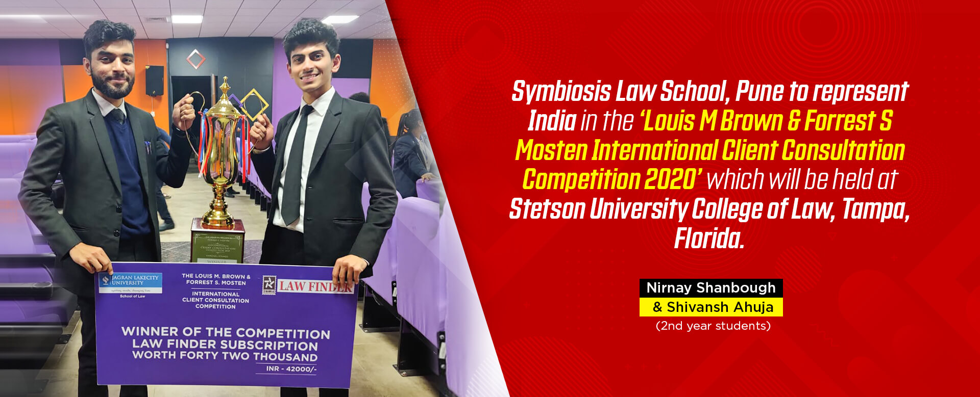 Law finder competition winner